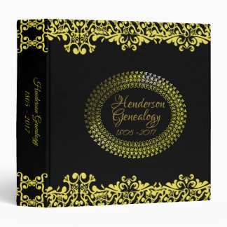 Golden Elegance  Family Tree Photo Binder