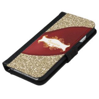 Golden elegant iPhone 6 wallet case