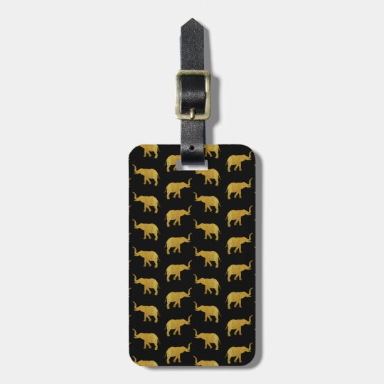 Golden Elephants Bag Tag
