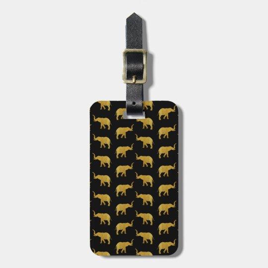 Golden Elephants Luggage Tag