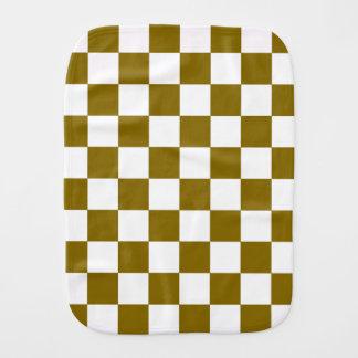 Golden Elm Checkerboard Burp Cloth