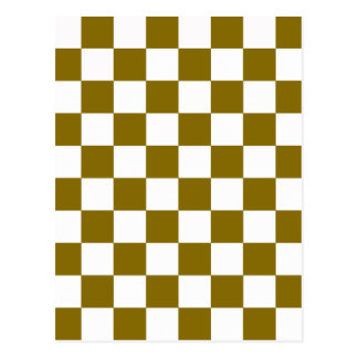 Golden Elm Checkerboard Postcard