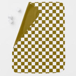 Golden Elm Checkerboard Reversible Baby Blanket