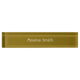 Golden Elm Personalized Nameplate