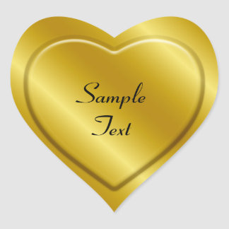 Golden Embossed Heart Sticker