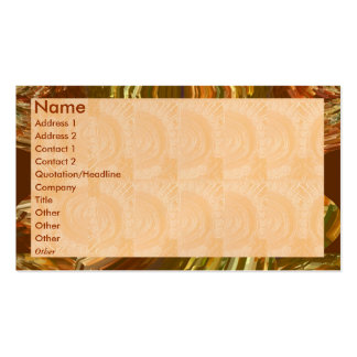 Golden Engraved Look - Flame Border Business Card Template