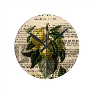 Golden Esperen Plum Flower Wall Clocks