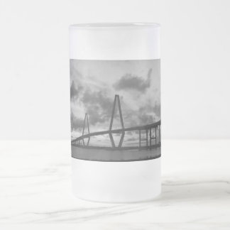 Golden Evening At Arthur Ravenel Grayscale Frosted Glass Beer Mug