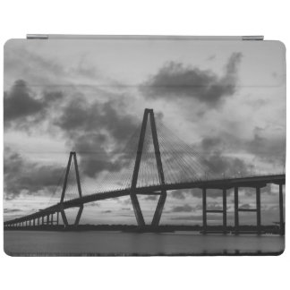 Golden Evening At Arthur Ravenel Grayscale iPad Cover