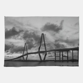 Golden Evening At Arthur Ravenel Grayscale Kitchen Towel