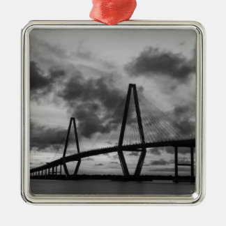 Golden Evening At Arthur Ravenel Grayscale Metal Ornament