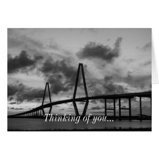Golden Evening At Arthur Ravenel Grayscale Note Card