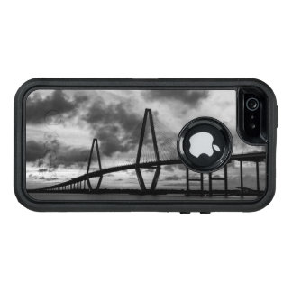 Golden Evening At Arthur Ravenel Grayscale OtterBox Defender iPhone Case