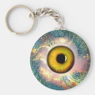 Golden Eye Lucky Charm Basic Round Button Keychain