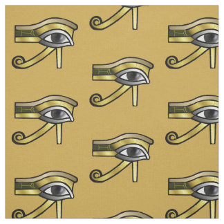Golden Eye of Horus Fabric