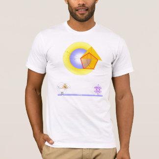 'Golden Eye on White' T-Shirt