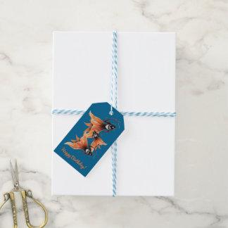 Golden Eye Surreal Goldfish Fantasy Art Custom Pack Of Gift Tags