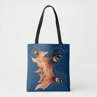 Golden Eye Surreal Goldfish Fantasy Original Art Tote Bag