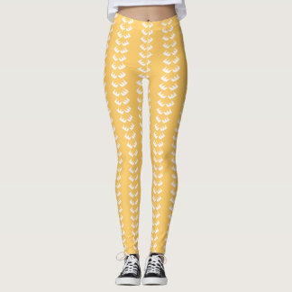 Golden EyeLash Designer Leggings, M (8-10) Leggings