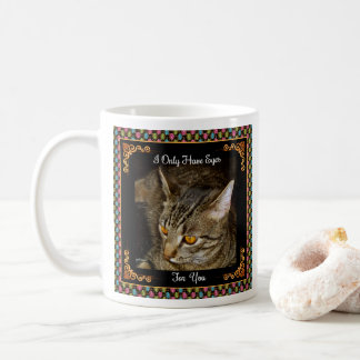 Golden Eyes Jewel-like Border Coffee Mug