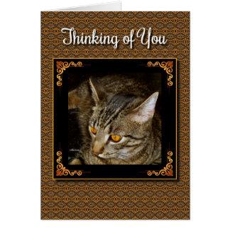 Golden Eyes Thinking of You Card