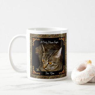 Golden Eyes Zebra Stripes Coffee Mug