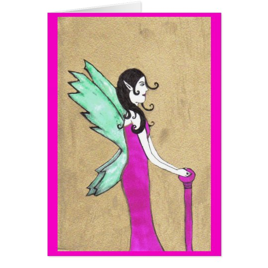 golden fairy card