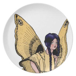 Golden Fairy Melamine Plate