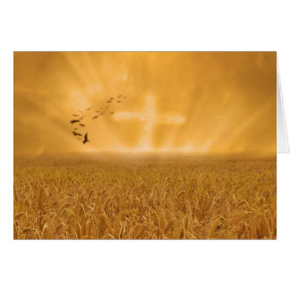 Golden Faith Greeting Card