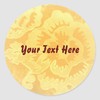 """Golden Fantsy"" Sticker template"