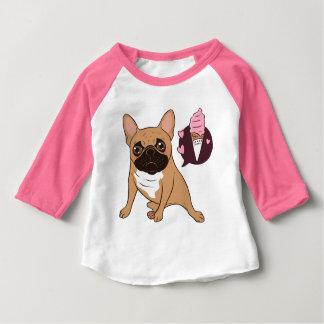 Golden Fawn French Bulldog wants an ice cream Baby T-Shirt