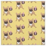 Golden Fawn French Bulldog wants an ice cream Fabric