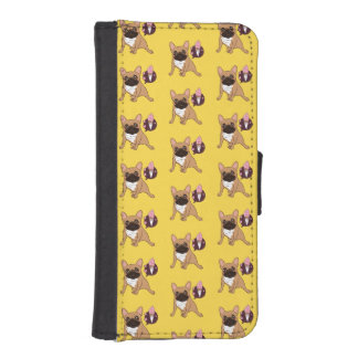 Golden Fawn French Bulldog wants an ice cream iPhone SE/5/5s Wallet Case