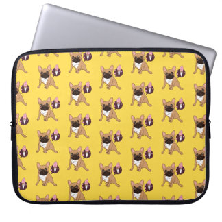 Golden Fawn French Bulldog wants an ice cream Laptop Sleeve