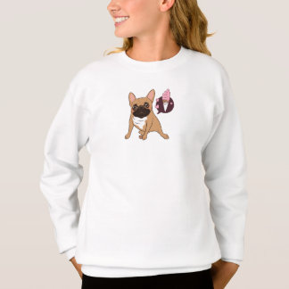 Golden Fawn French Bulldog wants an ice cream Sweatshirt