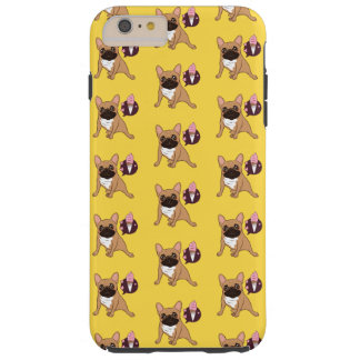 Golden Fawn French Bulldog wants an ice cream Tough iPhone 6 Plus Case
