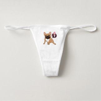 Golden Fawn French Bulldog wants an ice cream Underwear