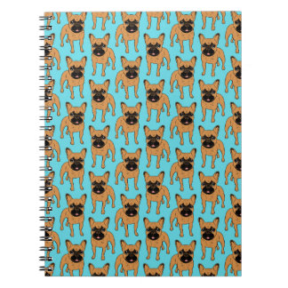 Golden Fawn Frenchie Spiral Notebook