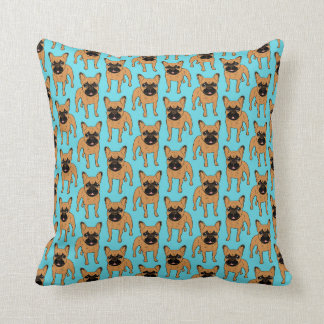 Golden Fawn Frenchie Throw Pillow