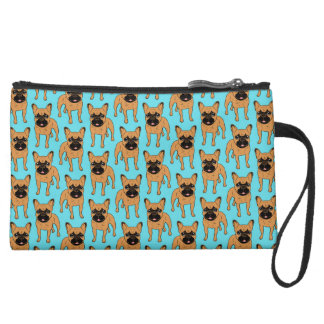Golden Fawn Frenchie Wristlet Clutch