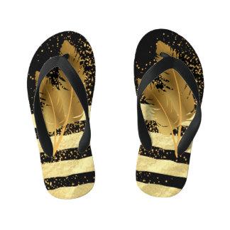 Golden Feather Kid's Flip Flops