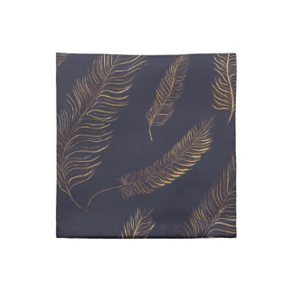 Golden Feather Patterned Napkin