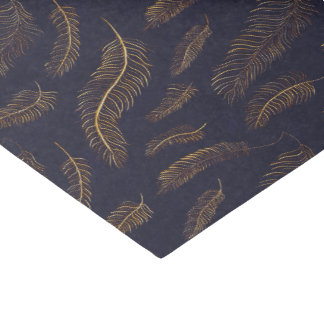 Golden Feather Printed Tissue Paper