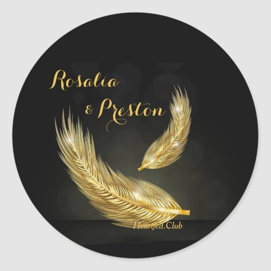 Golden Feathers Stickers