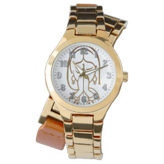 "Golden Feminine clock Two Returns ""Clause "" Watch"