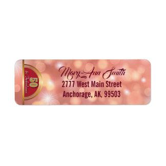 Golden Fifty & Fabulous Return Address Label