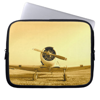 Golden Fighter Airplane Laptop Sleeve