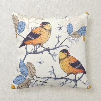 Golden Finch Throw Pillow
