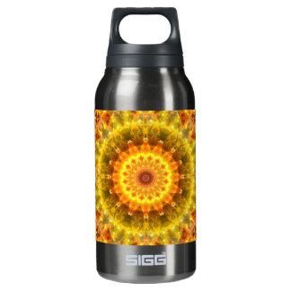 Golden Fire Mandala Insulated Water Bottle