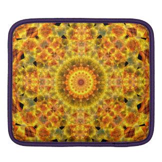 Golden Fire Mandala Sleeves For iPads